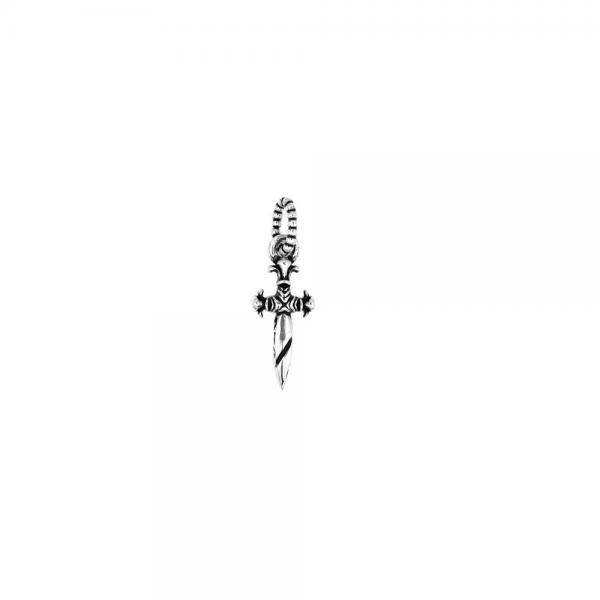 Pandant argint 925 pumnal TWISTED BLADE 1
