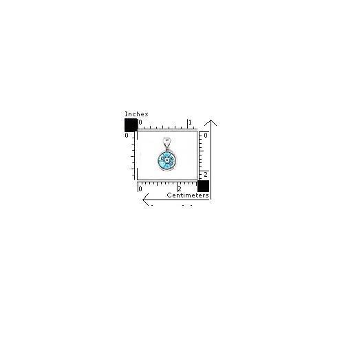 Pandant argint 925 si sticla de Murano rotund 1