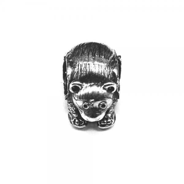 Pandant argint 925 urs pentru bratara tip charm 0