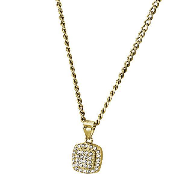 Pandant elegant din argint 925 placat cu aur si zirconii 0