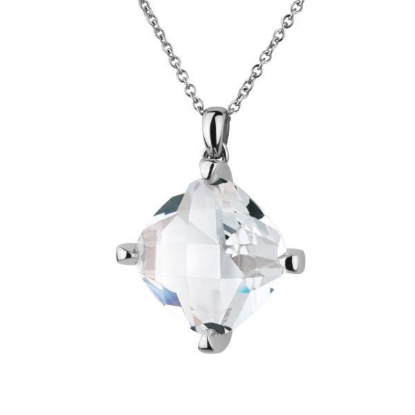 Pandant elegant inox cu cristal multifatetat 0