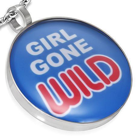 Pandant otel cu mesajul GIRL GONE WILD 0