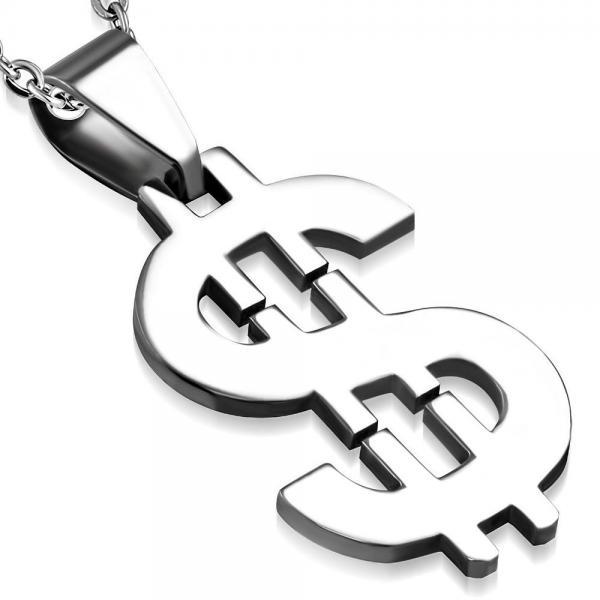 Pandant otel in forma de dolar 0