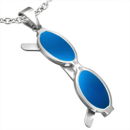 Pandant otel in forma de ochelari 0