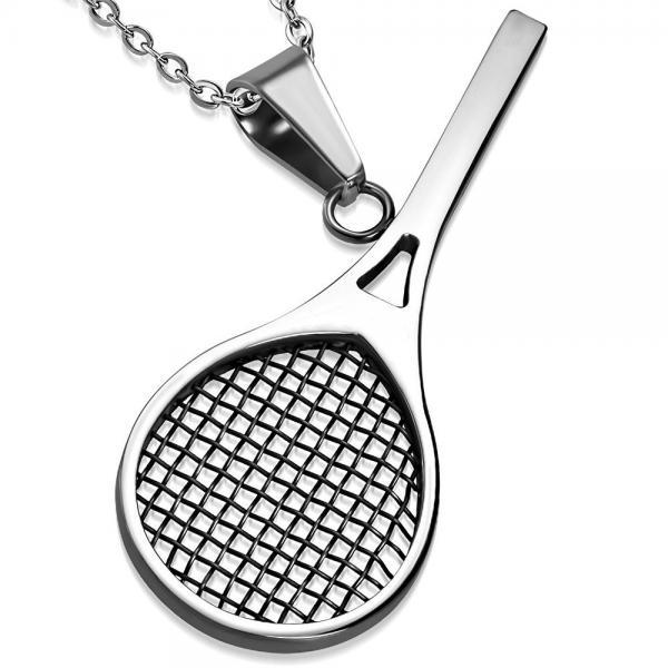 Pandant otel inox Racheta de tenis 0