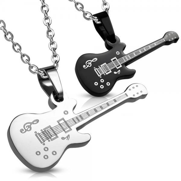 Set Pandante inox cu doua chitare electrice 0
