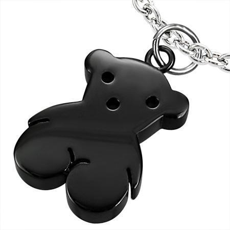 Pandant otel inox in forma de ursulet negru [0]