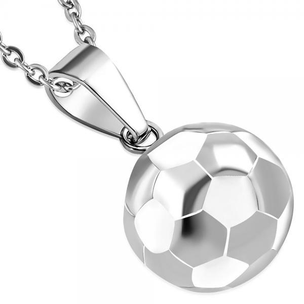 Pandant otel inox minge de fotbal 0
