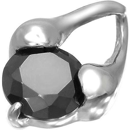 Pandant otel inox si zirconiu negru 0