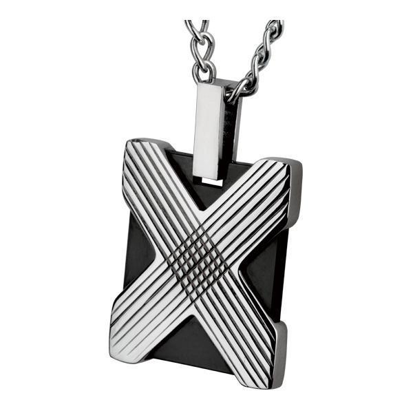 Pandant otel placuta identificare cu cruce argintie 0