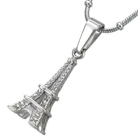 Pandant turnul Eiffel Paris din otel inox 0