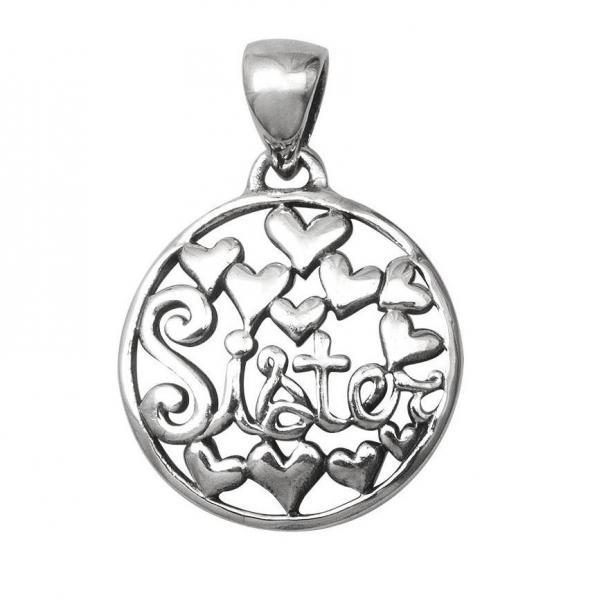 Pandantiv argint 925 SORA SISTER cu inimioare 1