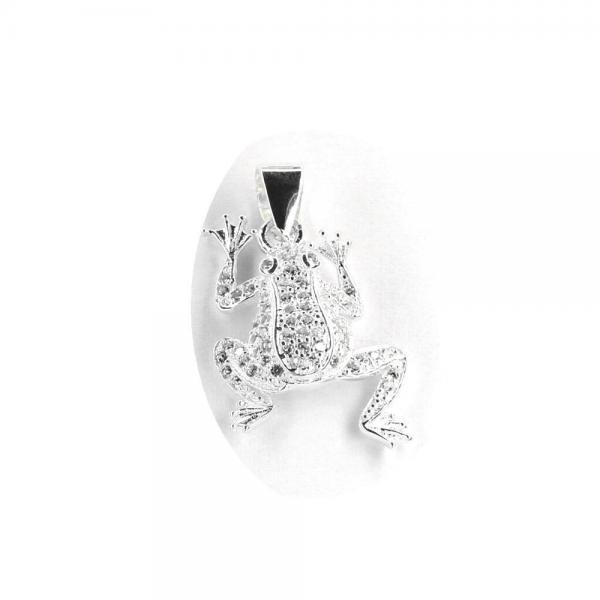 Pandantiv argint 925 broscuta cu zirconii 0