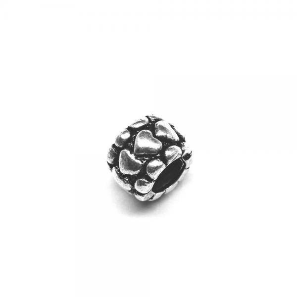 Pandantiv argint 925 cu inimioare pentru bratara tip charm 0