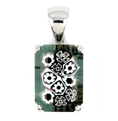 Pandantiv argint 925 cu sticla Murano 1