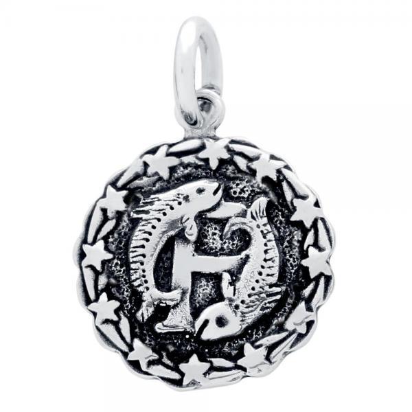 Pandantiv argint 925 cu zodia pesti 1