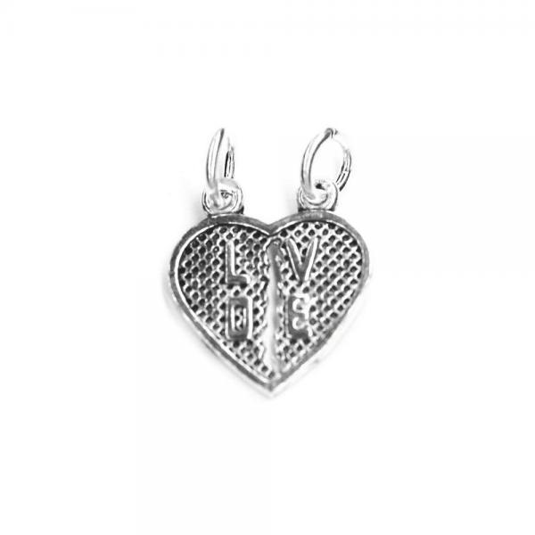 Pandantiv argint 925 forma de inimioara 0