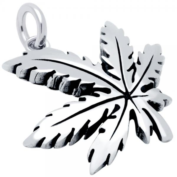 Pandantiv argint 925 frunza de marijuana 0