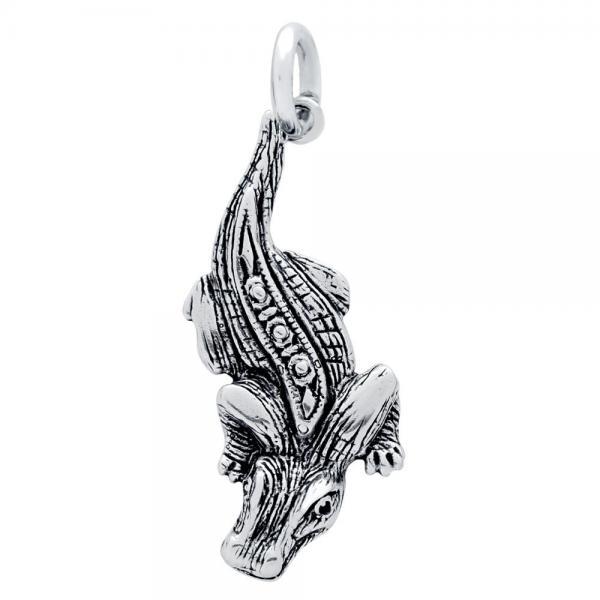 Pandantiv argint 925 in forma de crocodil 1