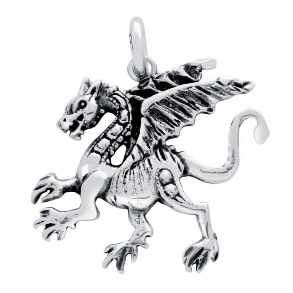 Pandantiv argint 925 in forma de dragon 1