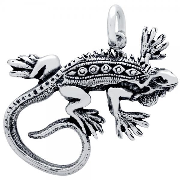 Pandantiv argint 925 in forma de iguana 1