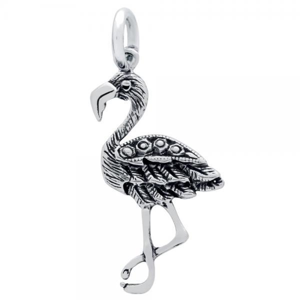 Pandantiv argint 925 in forma de pasare flamingo 0