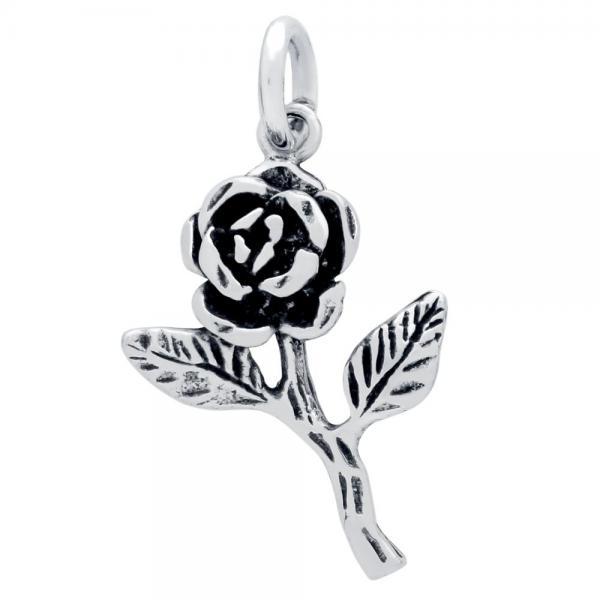Pandantiv argint 925 in forma de trandafir 1