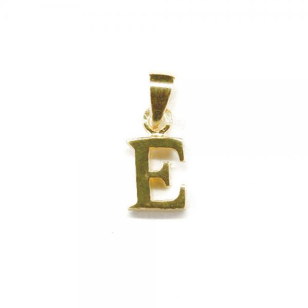 Pandantiv argint 925 placat cu aur litera E 0