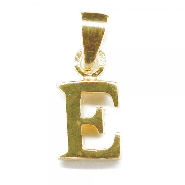 Pandantiv argint 925 placat cu aur litera E 1