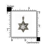 Pandantiv argint 925 stea cu zirconiu si marcasite 1