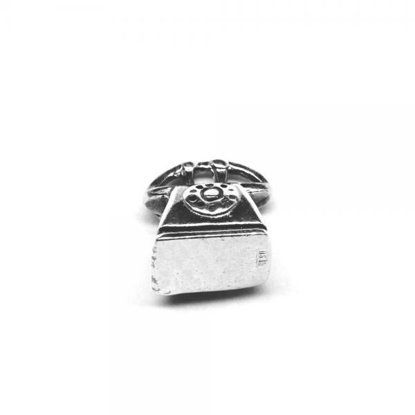 Pandantiv argint 925 telefon fix pentru bratara tip charm 0