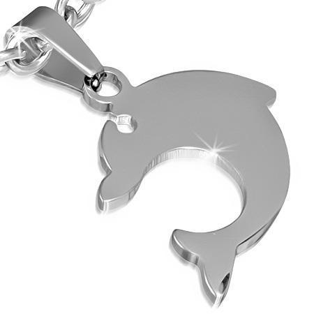 Pandantiv delfin din otel inox 0