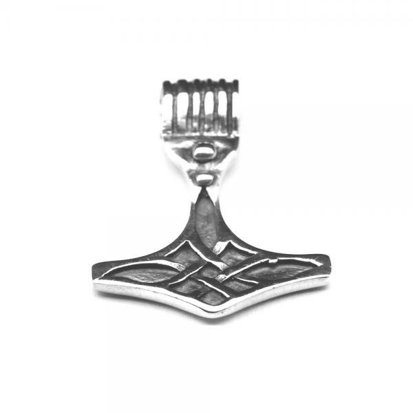 Pandantiv din argint 925 Ciocanul lui Thor cu motive celtice 1