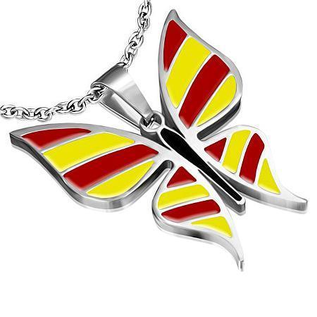 Pandantiv otel inox in forma de fluturas 0