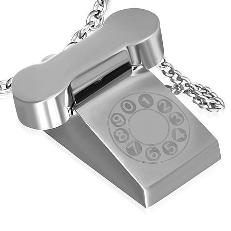 Pandantiv telefon din otel inox 0