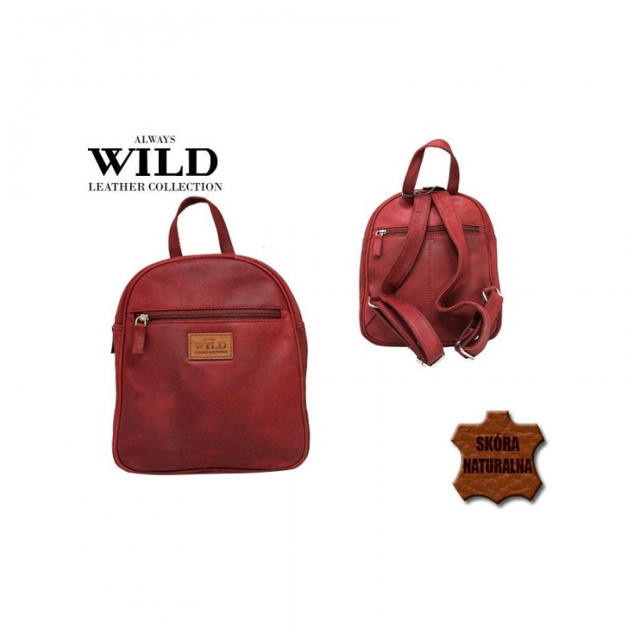 Rucsac piele naturala Wild RUC02 Rosu 1
