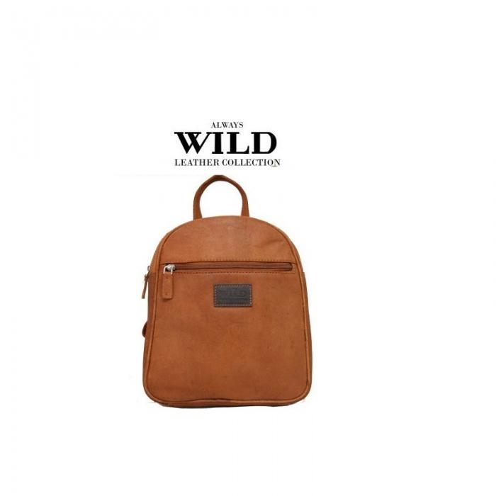 Rucsac piele naturala Wild RUC03 Maron 0
