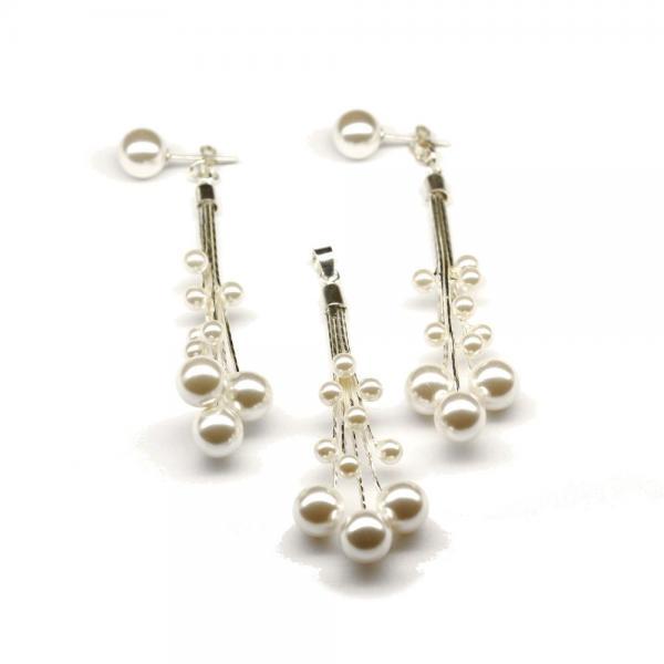 Set argint 925 cu perle 0