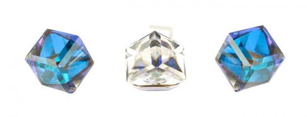 Set argint 925 cu swarovski elements culoare Bermuda Blue [1]