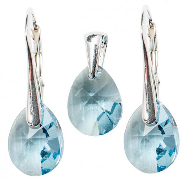 Set argint 925 cu swarovski elements Aquamarine 0