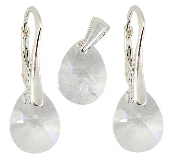 Set argint 925 cu swarovski elements Crystal Clear 0