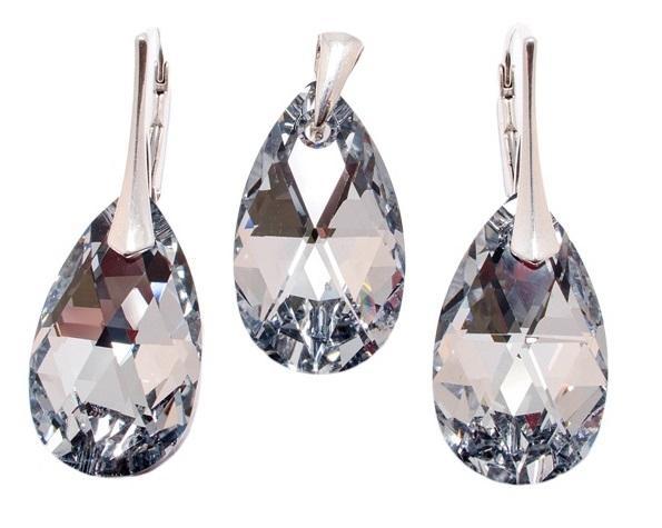 Set argint 925 cu swarovski elements 0