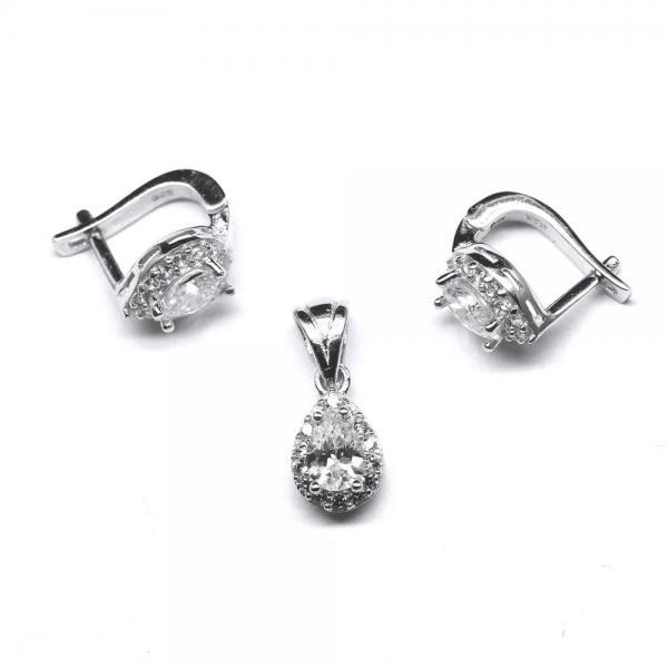 Set elegant din argint 925 rodiat cu zirconii 0
