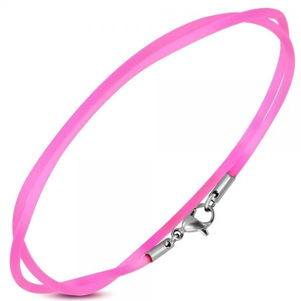 Snur cauciuc roz 60 cm 1