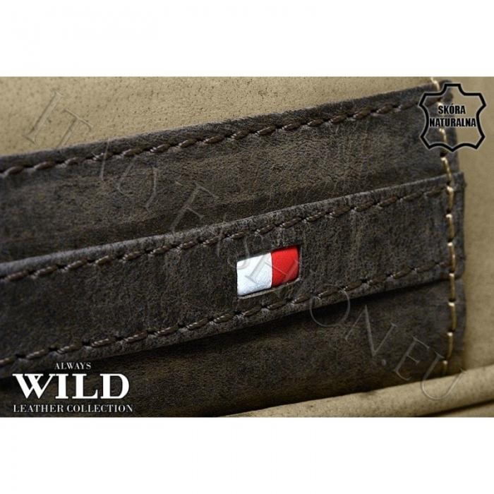 Borseta piele naturala Wild BOR03 Maron 6
