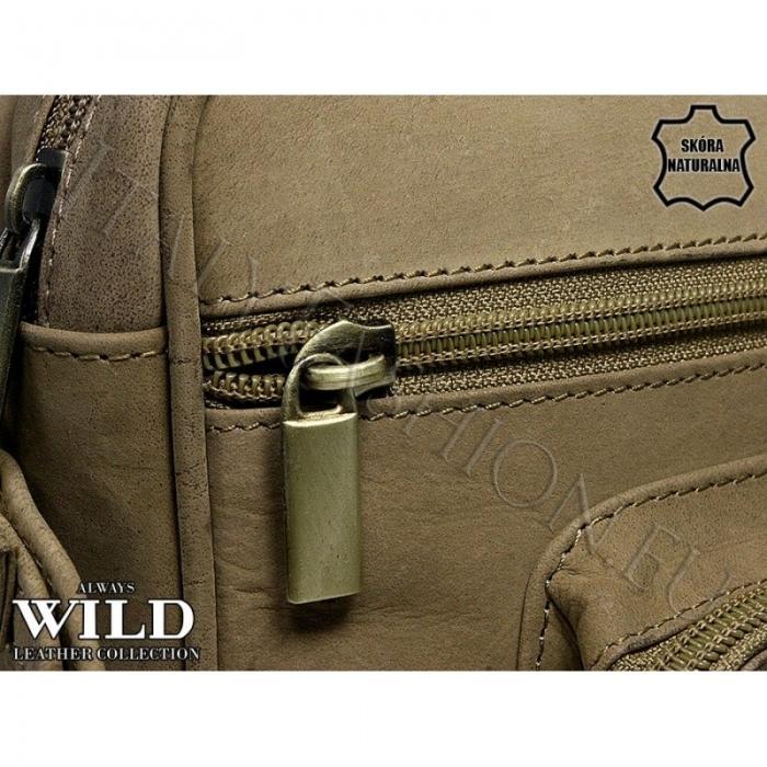 Borseta piele naturala Wild BOR03 Maron 1