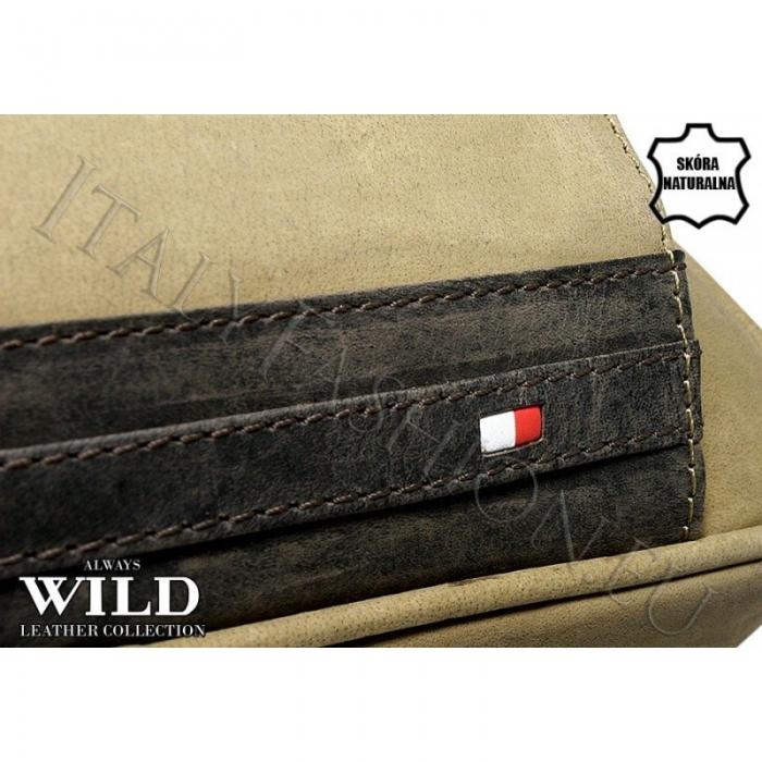 Borseta piele naturala Wild BOR03 Maron 4