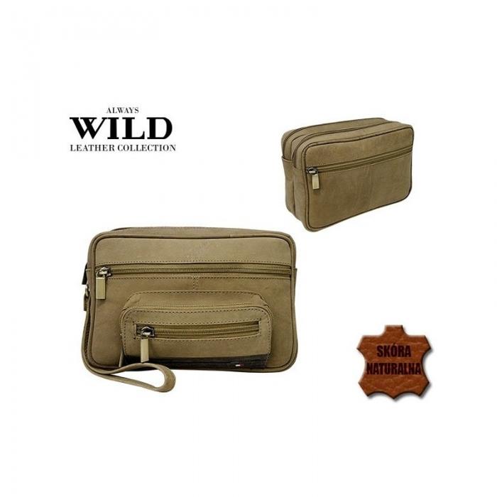 Borseta piele naturala Wild BOR03 Maron 3