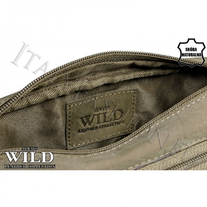 Borseta piele naturala Wild BOR03 Maron 5