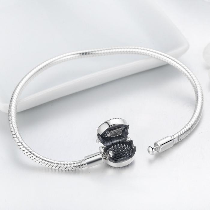 Bratara argint 925 cu cap de pisicuta si zirconii albe - Be Nature  BST0028 5